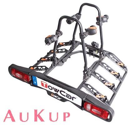 fahrradtr ger auf anh ngerkupplung f r 4 r der aukup. Black Bedroom Furniture Sets. Home Design Ideas